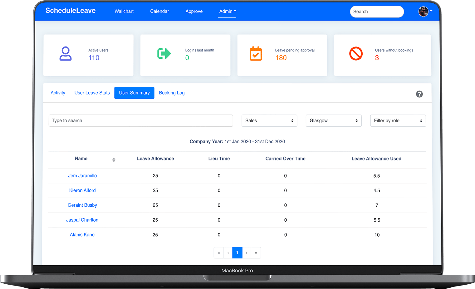 ScheduleLeave - Advanced reporting