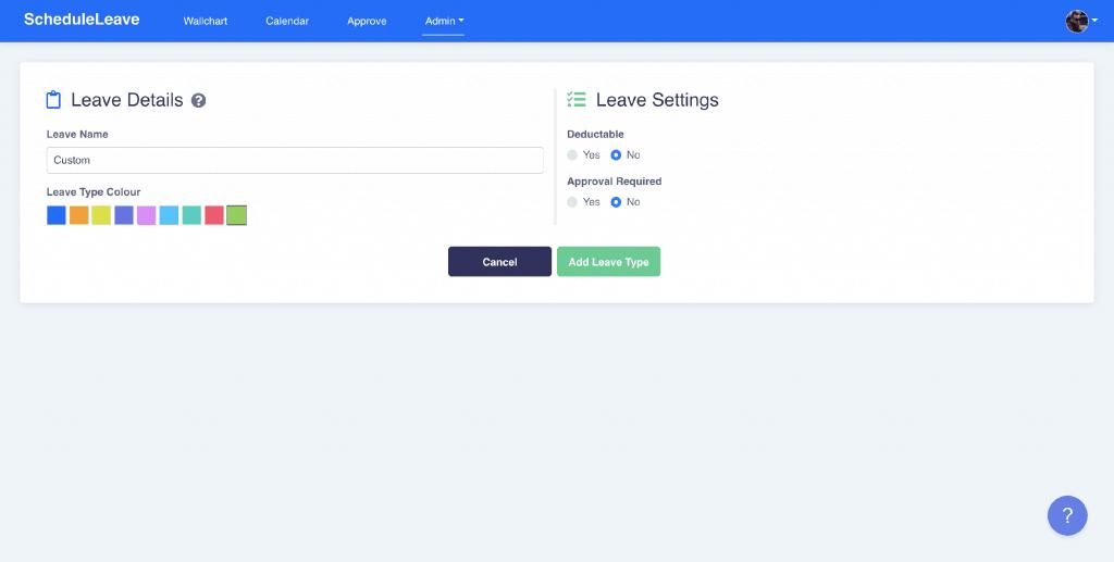 Editable Leave Types