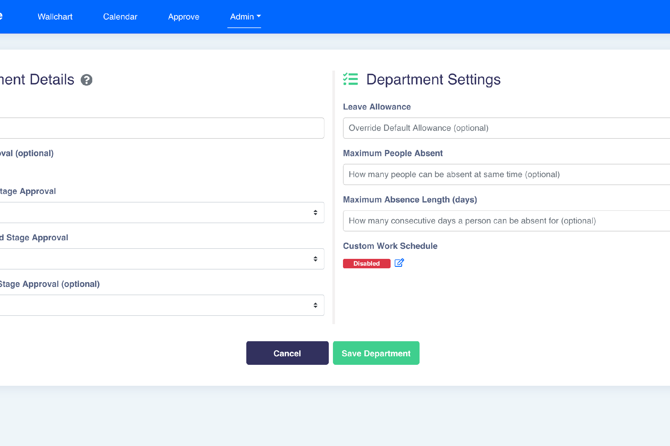 ScheduleLeave - Multi-stage approval