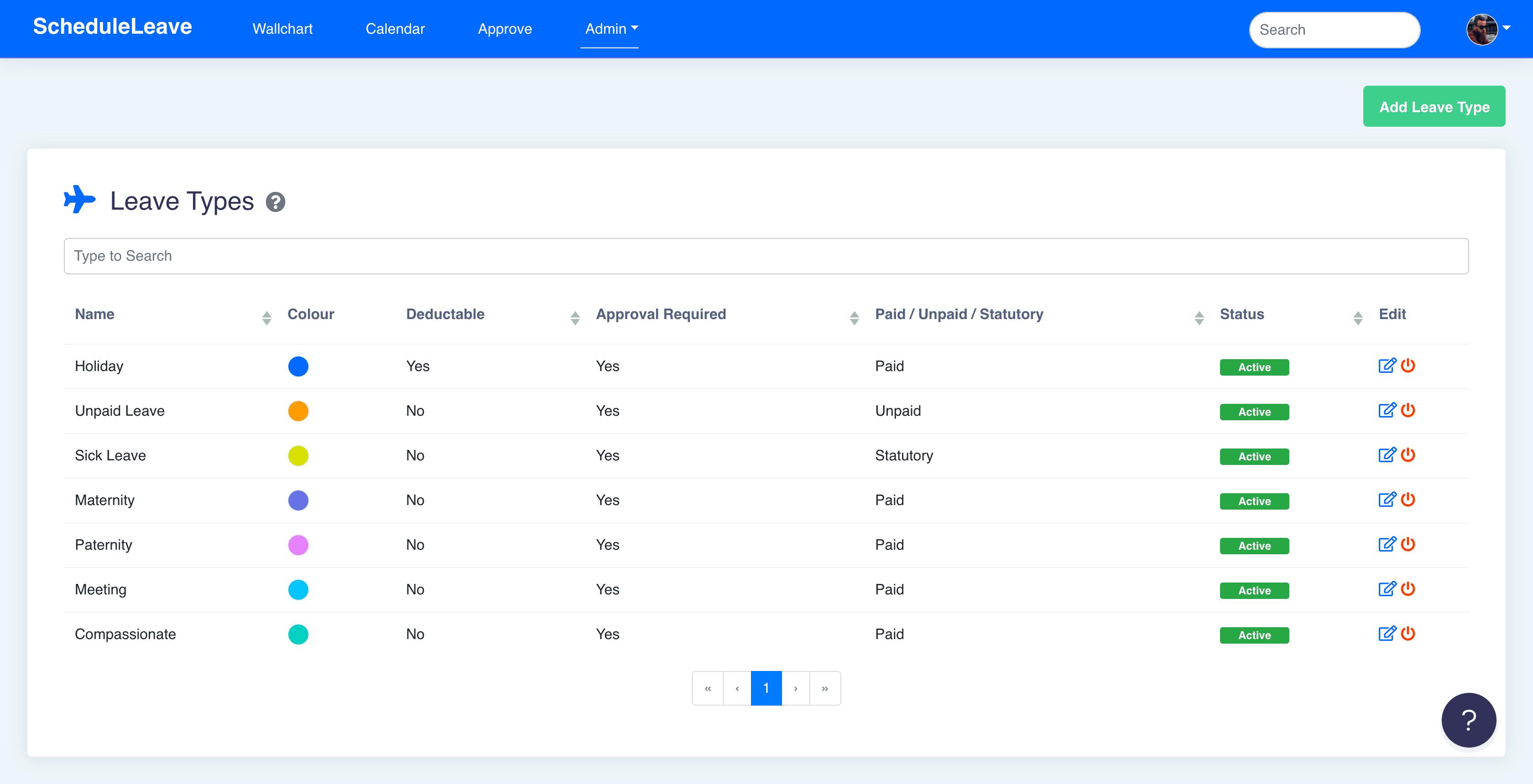 Leave Type Customisation